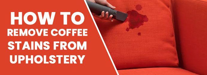 Remove coffee stains from upholstery